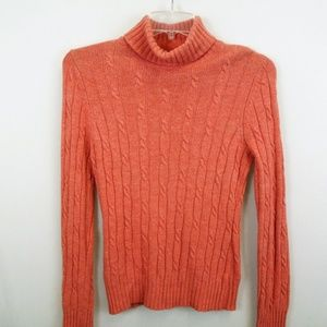 MERONA L Comfy Cashmere Blend  Orange Sweater